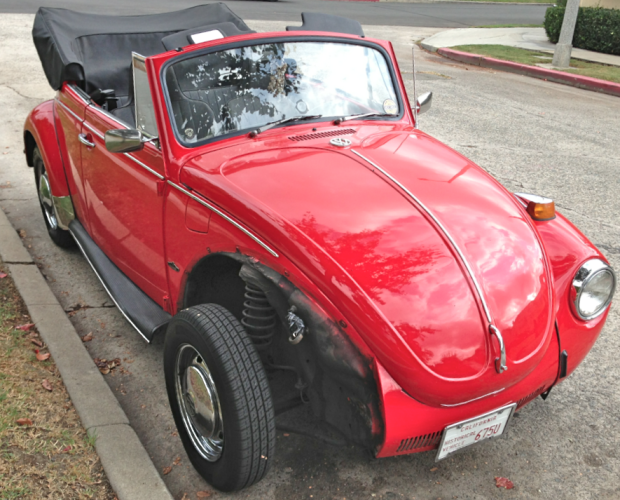 Drop top Bug goes fenderless