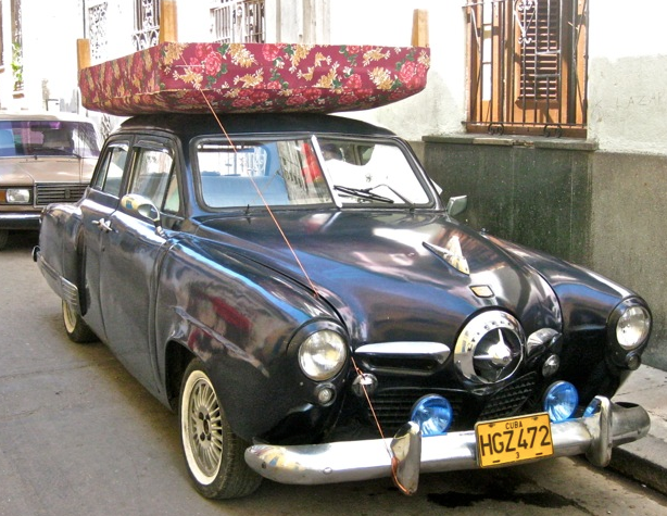 "Havana-based '50 ""bullet nose"" with aftermarket roof treatment"