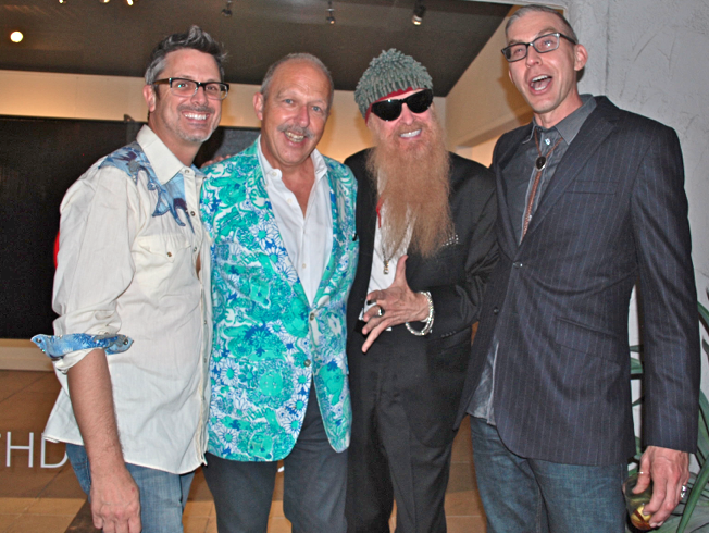 DRIVEN co-conspirators: Matthew Reader, Bob Merlis, Billy F Gibbons, Eric Nash